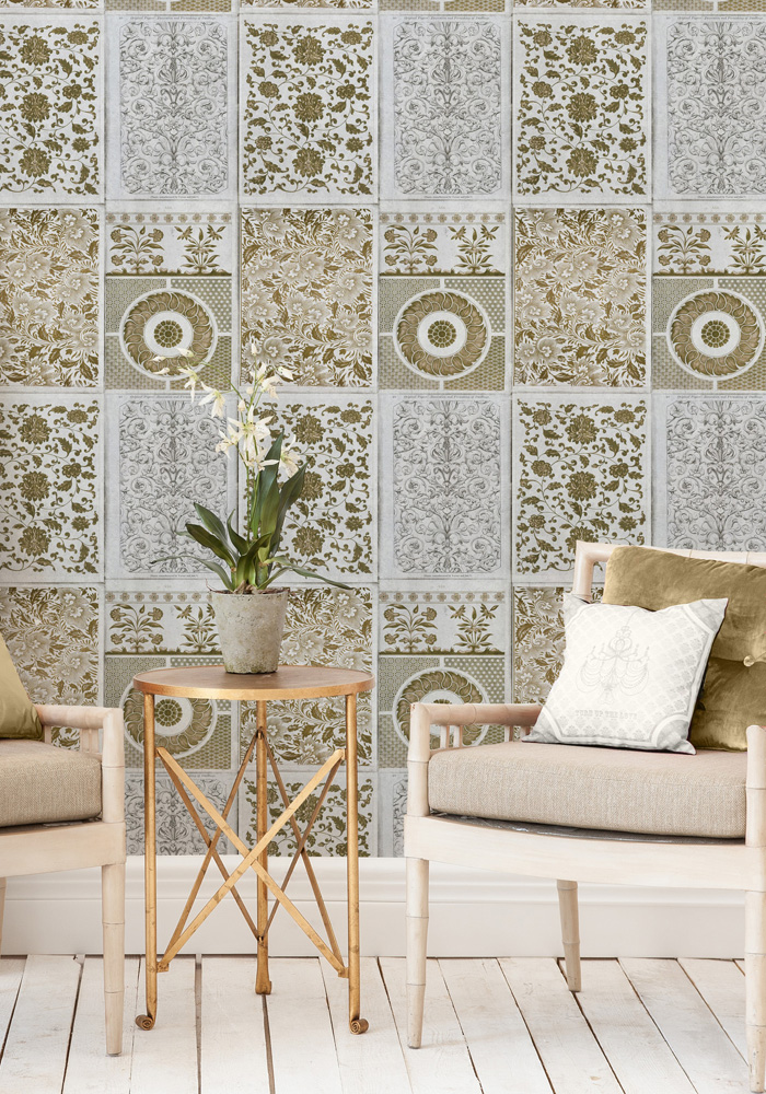 Chinese Patterns Brown Wallpaper By Mind The Gap