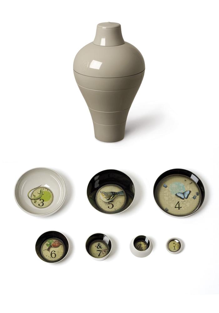 Grey Ming Set of 6 Stackable Bowls - ibride