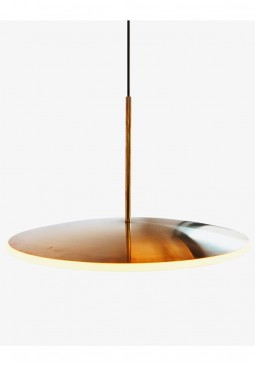 17h Dish Brass Pendant Light - Graypants Chrona Series