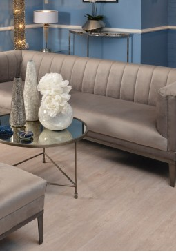 Libra Belgravia Grey Three Seater Ribbed Sofa
