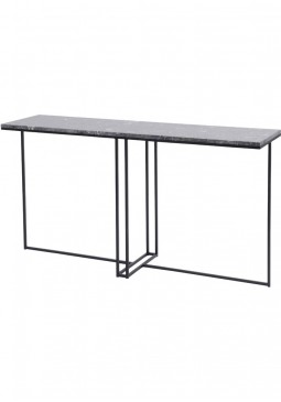 Libra Shoreditch Black Metal And Grey Travisso Console Table