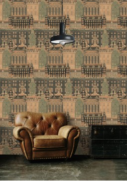 Amsterdam Orange Wallpaper by Mind The Gap