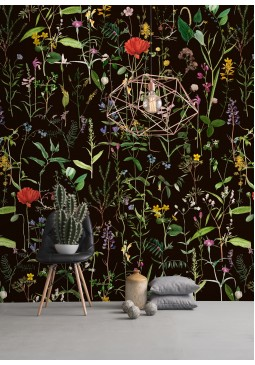 Aquafleur Anthracite Wallpaper by Mind The Gap
