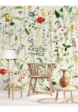 Aquafleur Taupe Wallpaper by Mind The Gap