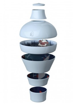 Blue Abysses Ming Stackable Bowls - ibride
