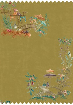 Chinoiserie Velvet Fabric by Mind The Gap