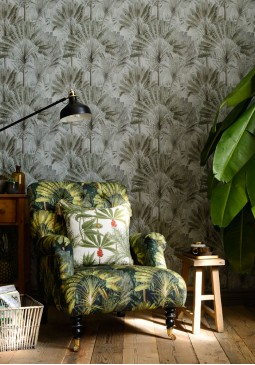 Traveller's Palm Neutral Wallpaper by Mind The Gap