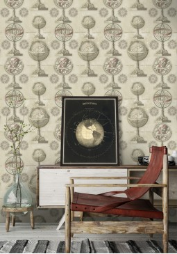 Armillary Wallpaper by Mind The Gap