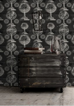 Armillary Black Wallpaper by Mind The Gap