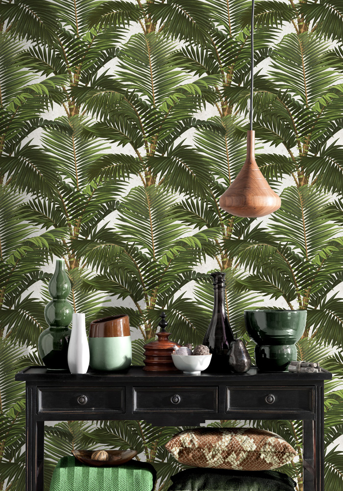 Jardin tropical wallpaper by mind the gap for Decoration jardin tropical