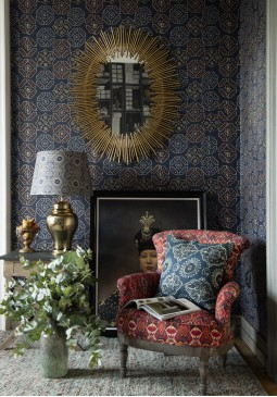 Ajrak Blue Wallpaper by Mind The Gap