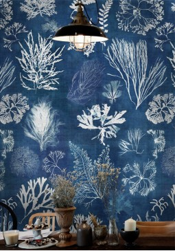 Algae Navy Blue Wallpaper by Mind The Gap