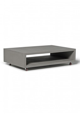 Monobloc Coffee Table with Wheels - Lyon Beton Concrete