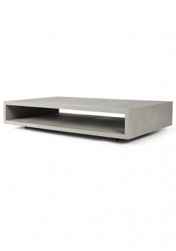Monobloc Coffee Table with Metal Legs - Lyon Beton Concrete