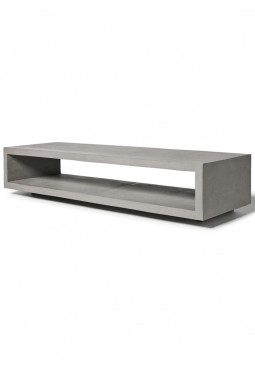 Monobloc TV Bench with Metal Legs - Lyon Beton Concrete