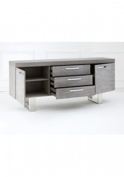 Fifty Five South Ulmus Grey Elm Wood Sideboard