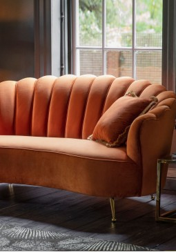 DCUK Rivello Sofa - Rusty Orange