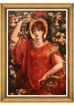 A Vision of Fiammetta by Rosetti Framed Art by Mind The Gap