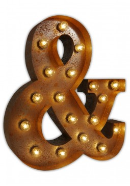 Vintage Letter Light Ampersand (&) - Urban Industrialists