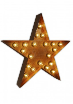 Vintage Letter Light Star - Urban Industrialists